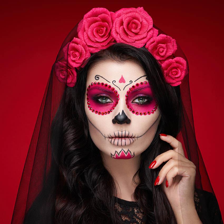 Tu maquillaje de Halloween de Catrina en 4 pasos